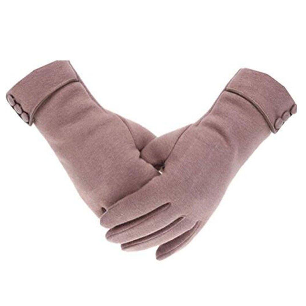 MeiPing Touch Screen Telefon winddicht gefütterte dicke Handschuhe für Damen Lady Winter warme Handschuhe