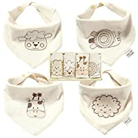 #1 Mommy Approved Bandana Bib - Best for Drooling and Teething - 100% Natural...