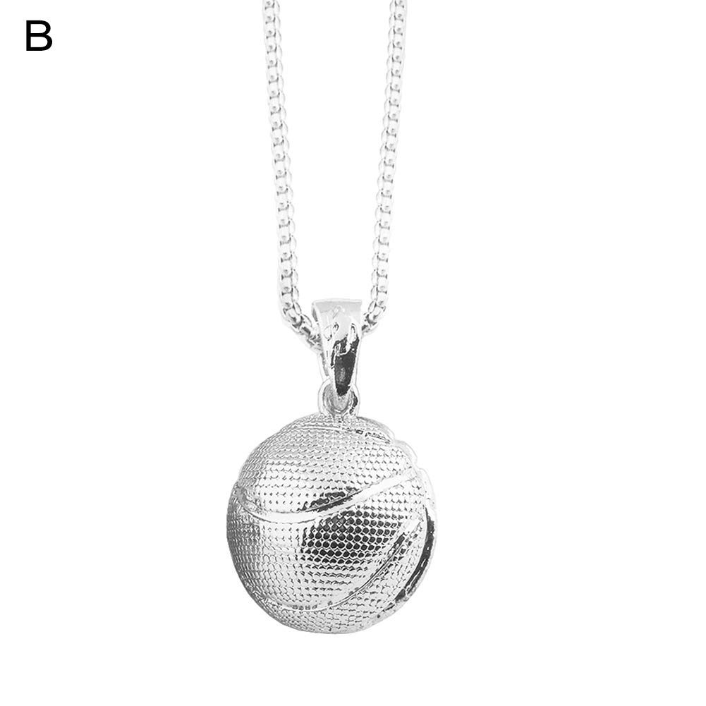 Gilroy Unisex Basketball Pendant Chain Necklace Sports Party Jewelry Gift