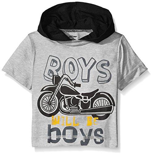 Gerber Graduates Boys Hooded Short Sleeve T-Shirt, Motorcycle, 12 Months ()