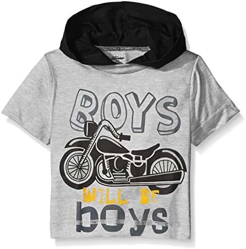 Gerber Graduates Baby Boys' Hooded Short Sleeve T-Shirt
