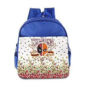 Wade Wilson Deadpool Logo Children School Bags RoyalBlue