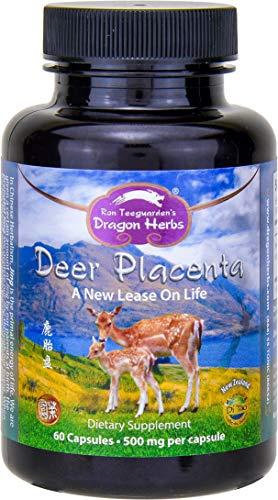 Dragon Herbs Deer Placenta - 500 mg - 60 Capsules