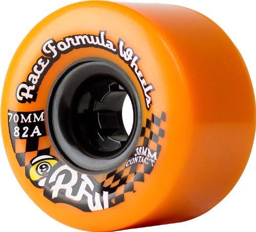 Rueda de skateboard Sector 9 Race Formula-Set en el centro, naranja, 70 mm 82A