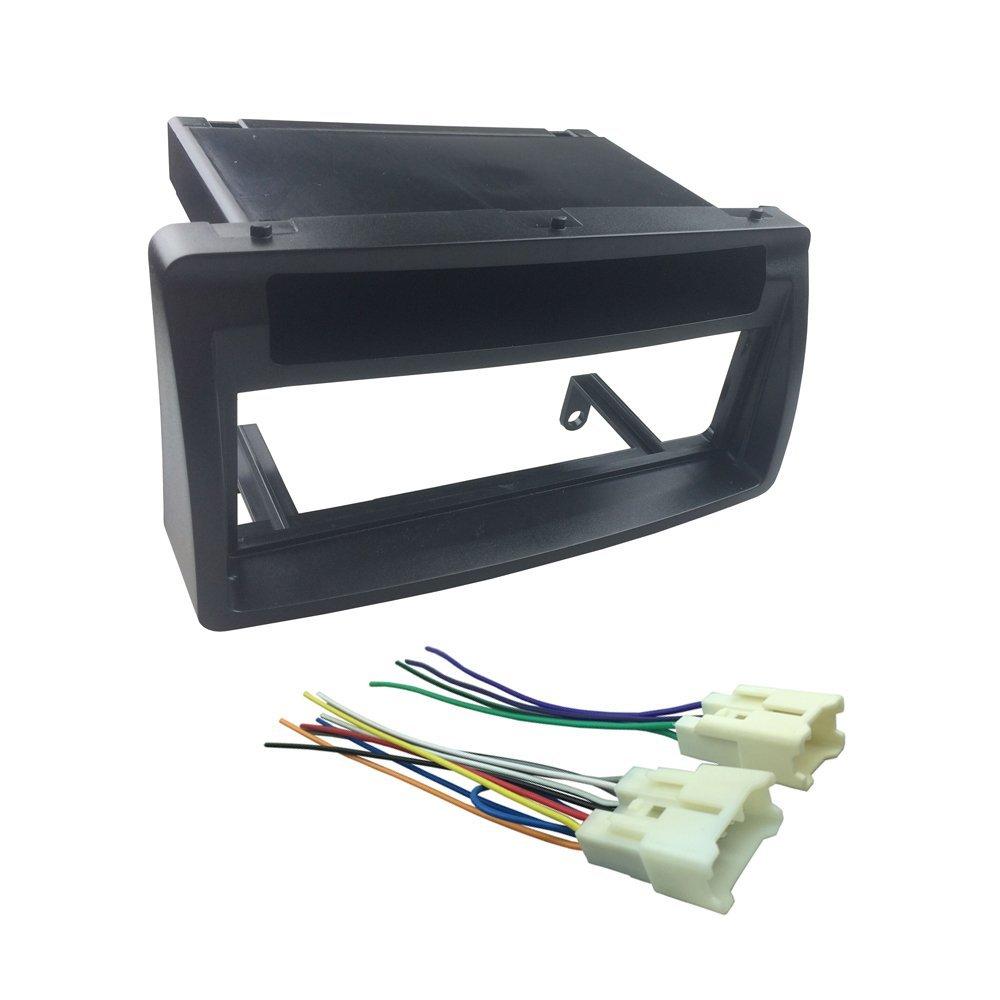 DKMUS Dash Kit for 2003-2008 Toyota Corolla Din Installation Trim Fascia Bezel w. Wiring Harness (1-Din)