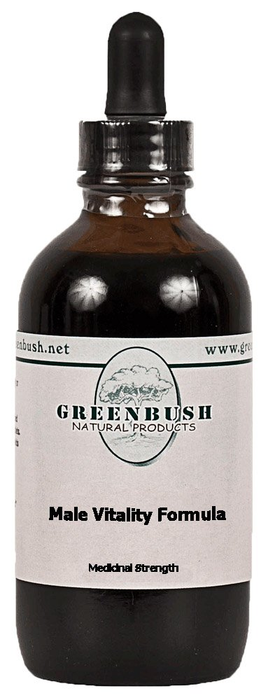 Greenbush Male Vitality Formula Concentrated Alcohol-Free Liquid Herbal Extract with Muira Puama for Male Performance, Stamina and Energy. Value Size 4oz (120ml) Bottle 240 Doses of 500mg