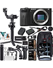 $1849 » Sony a6600 Mirrorless Camera 4K APS-C Interchangeable Lens Body Only ILCE-6600B Filmmaker's Kit with DJI RSC 2 Gimbal 3-Axis Handheld Stabilizer Bundle + Deco Photo Backpack + Software