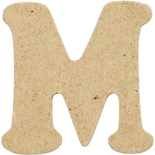 BUDILA/® Holzbuchstabe U 4cm hoch MDF naturfarben