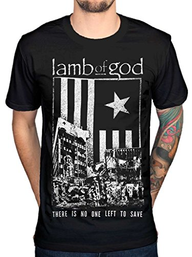 AWDIP Men's Official Lamb Of God There Is No One Left To Save T-Shirt Metal Band Music -