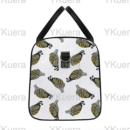 ボブ白散在1 旅行バッグナイロンハンドバッグ大容量軽量多機能荷物ポーチフィットネスバッグユニセックス旅行ビジネス通勤旅行スーツケースポーチ収納バッグ