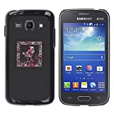 LASTONE PHONE CASE / Slim Protector Hard Shell Cover Case for Samsung Galaxy Ace 3 GT-S7270 GT-S7275 GT-S7272 / Cool Crow Frame Blood Red Splatter Minimalist