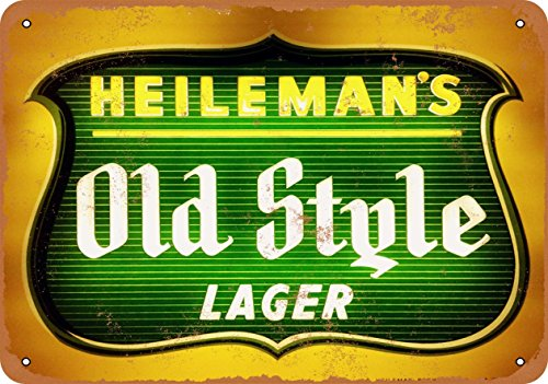 - Wall-Color 9 x 12 METAL SIGN - Heileman's Old Style Lager - Vintage Look Reproduction