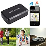 Strong Magne GPS Tracker ,GPS/GSM/GPRS Tracking System with No Monthly Fee, Wireless Mini Portable Magnetic Tracker Hidden for Vehicle Anti-Theft / Teen Driving
