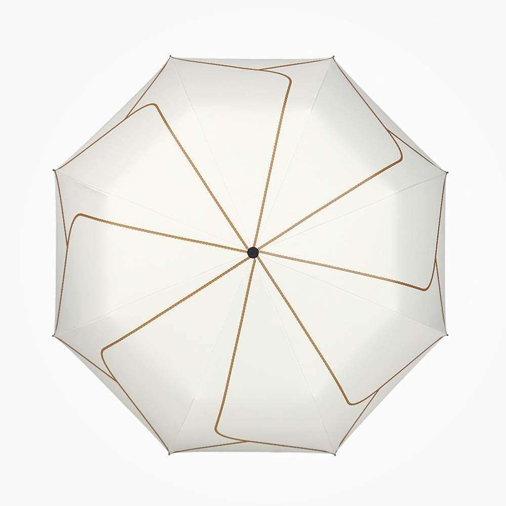 Jiu Si Sun Umbrella Sun Protection UV Female Ultra Light Small Folding Umbrella Dual-use Sunscreen Three Folding Umbrella Sun Umbrella Color : Black