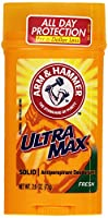 Arm & Hammer Anitperspirant Deodorant, Ultra Max Invisible Solid, Fresh Scent, 2.6 oz