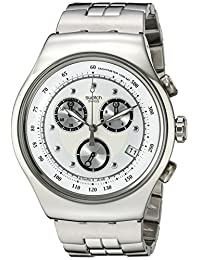 Swatch Men's YOS401G Chrono Wealthy Star Silver Dial Watch