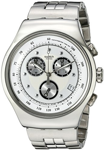 Swatch Men's YOS401G Chrono Wealthy Star Silver Dial - Swatch Online Store