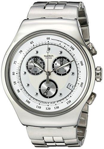Swatch Men's YOS401G Chrono Wealthy Star Silver Dial Watch