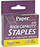 "PaperPro Heavy Duty Staples, 3/8"" Leg, 65 Sheet Capacity, 3,000/Box (1962)"