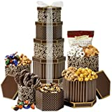 Broadway Basketeers Celebration Gift Tower with Sweets & Nuts
