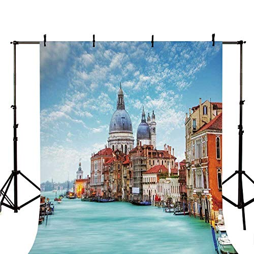 (Italy Stylish Backdrop,Grand Canal and Basilica Santa Maria Della Salute Historical Architecture for Photography,118