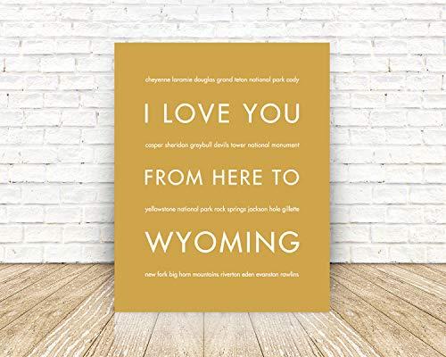 Wyoming Unframed Art Print, Handmade Artisian Home Decor