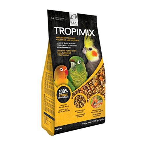 Cockatiel Granules - Tropimix Lovebird/Cockatiel Premium Formula by Hari (2 lb)