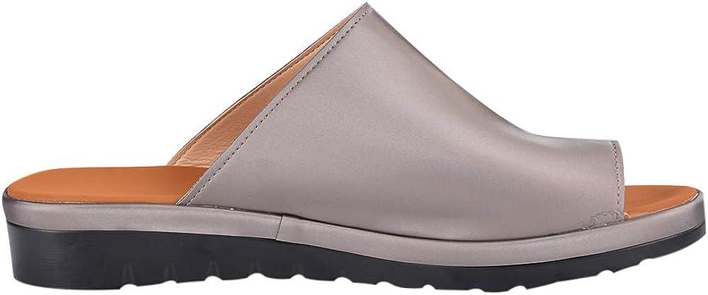 Vertvie Mujer Chanclas Plataforma Tac/ón De Cu/ña Verano Fiesta Chanclas Sandalias Zapatos Chanclas Sandalias De Playa Cuero de PU para Interiores al Aire Libre Zapatillas