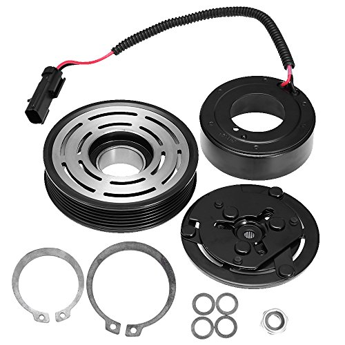 QUIOSS A/C AC Compressor Clutch Assembly with Pulley Coil for Dodge Dakota Ram 1500 2500 3500