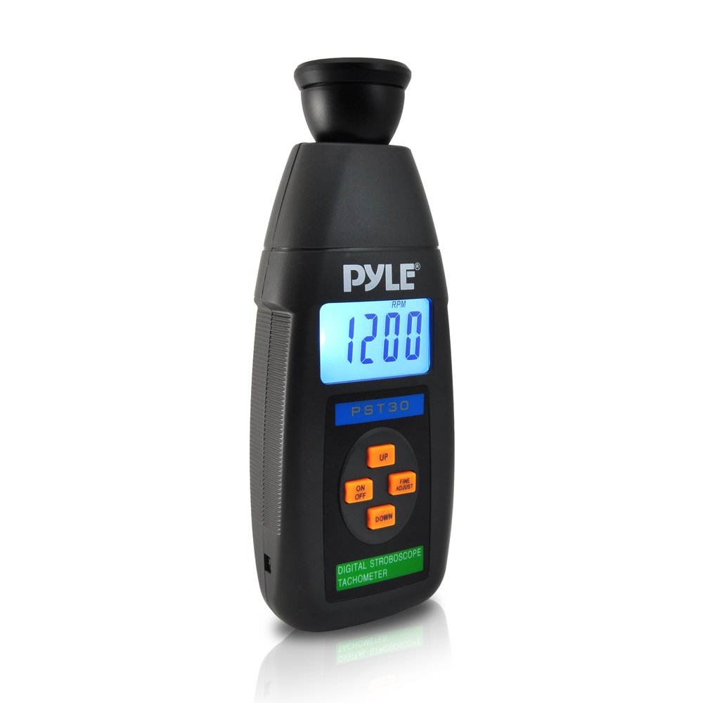 Pyle Pst30 Digital Led Non Contact Stroboscope Strobe Light Tachometer With Backlit Lcd Display And 19999 Rpm Range Home Improvement