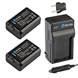 EforTek NP-FW50 Replacement Battery (2-Pack) and Charger Kit for Sony NP-FW50 and Sony Alpha 7, a7, Alpha 7R, a7R, Alpha a3000, Alpha a5000, Alpha a5100,Alpha a6000,Alpha a 6300,NEX-3, NEX-3N, NEX-5, NEX-5N, NEX-5R, NEX-5T, NEX-6, NEX-7, NEX-C3, NEX-F3, SLT-A33, SLT-A35, SLT-A37, SLT-A55V, DSC-RX10,Alpha QX1, Alpha 7S,Alpha 7 II
