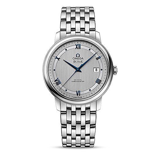 Omega Prestige Co-Axial Rhodium-Silvery Dial Automatic Mens Watch 424.10.40.20.02.001