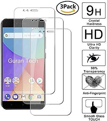 Guran [3-Unidades] Protector de Pantalla Vidrio Cristal Templado para Xiaomi Mi A1 Smartphone Cristal Vidrio Templado Film (9H, 2.5D Edge, 0.3mm): Amazon.es: Electrónica
