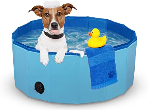 simpletome Pet Swimming Pool Foldable Bathing Tub for Dogs Cats Rabbit 63 x 11.8