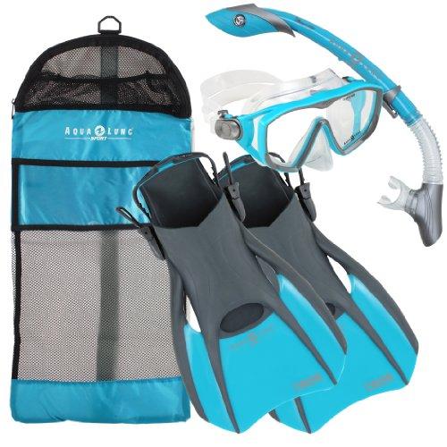 Aqualung Snorkel Set with Sport Diva 1 Lx Mask, Island Dry S