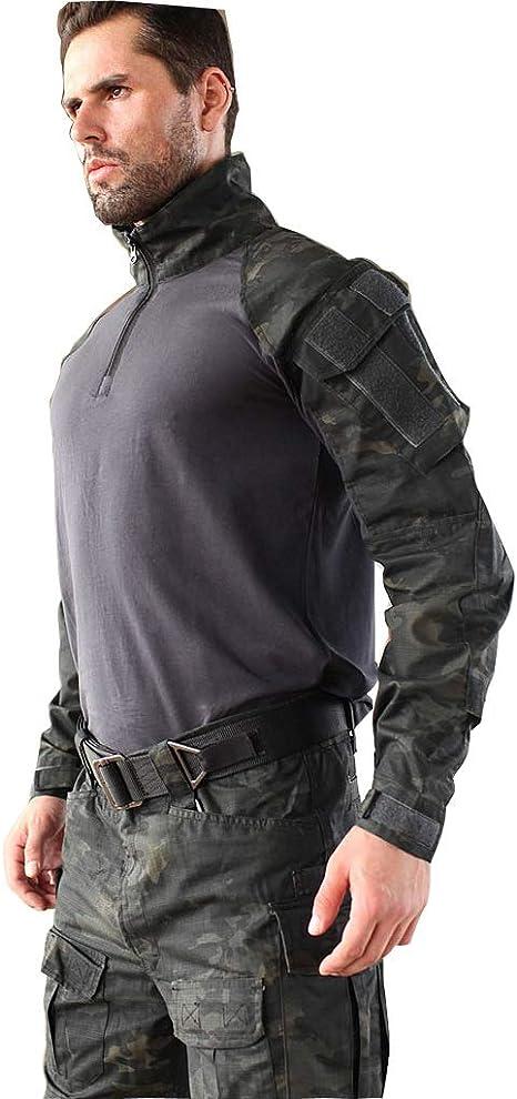 Traje de combate negro de la policía, resistente al rayado ...