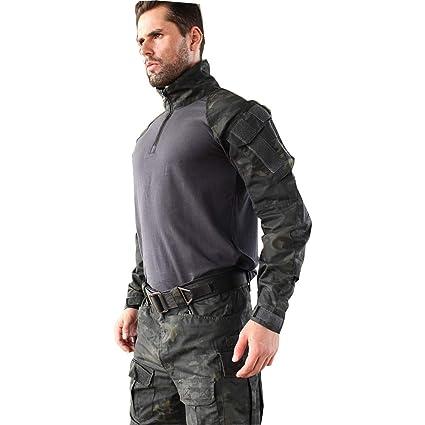 Amazon.com : AL LI WEI Camouflage Tactical Suit Scratch ...