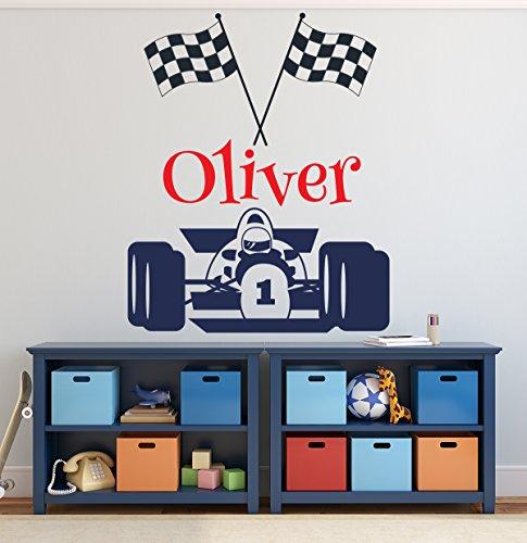 - Personalized Racing F1 Car Wall Decal Sport Race Nursery Baby Room Art Decor Vinyl Mural Sticker LD31 (32