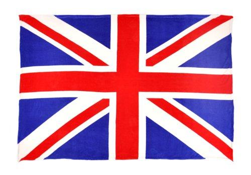 - Sleeping Partners Union Jack Flag Coral Fleece Throw Blanket, Red/White/Blue