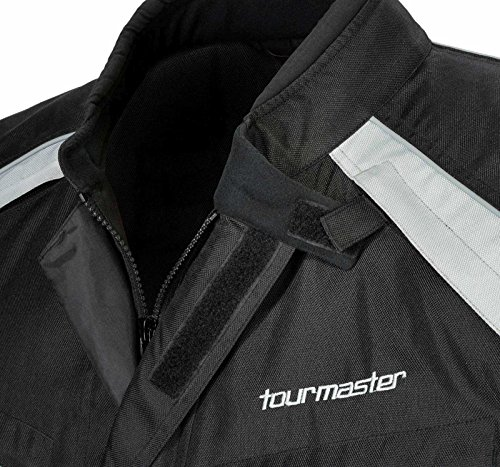 TourMaster Saber 4.0 Men's 3/4 Outer Shell Textile Motorcycle Jacket (Silver/Black, XX-Large) by Tourmaster (Image #1)'