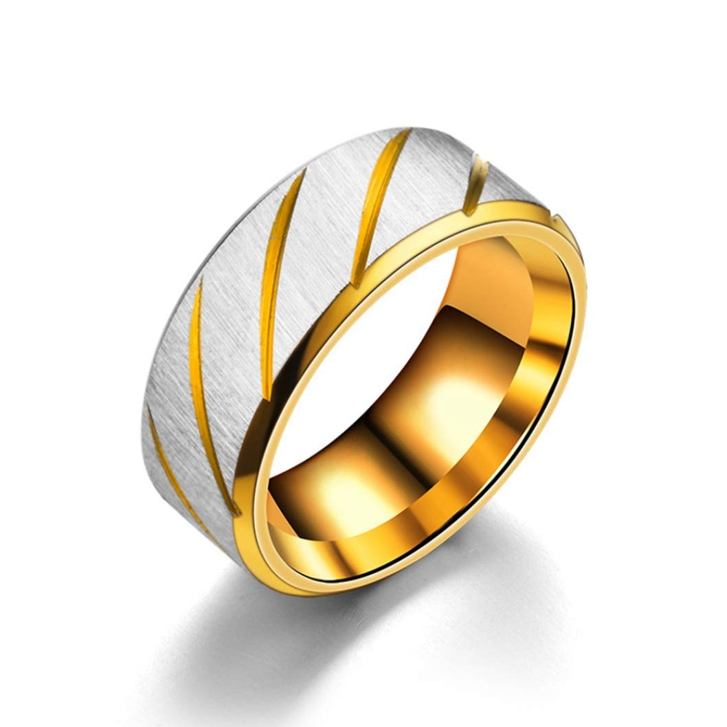 None 7 Gold 7. YeLinjn Well-Made 2Pcs Fashion Jewelry Weight Loss Ring Metal Health Care Hand String Slimming Healthy Stimulating Acupoints Gallstone Ring Magnetic Therapy in fine Style