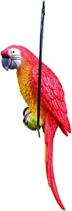 S&F Life Size Hanging Parrot Statue Like a Real Parrot Patio Lawn Ideal Decor for Nature Lovers Tropical Bird Collectors (Big Szie)