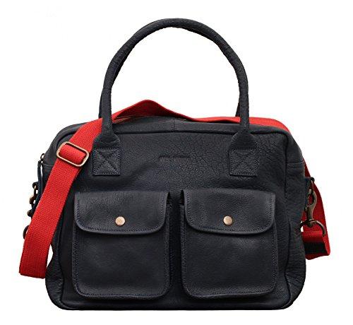 Le Dandy Blue Ink Leather Handbag Vintage Style Paul Marius