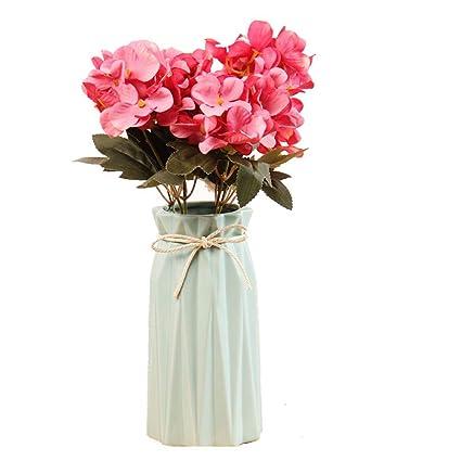 Lifestyle-Nice 1 pcs ceramic vase modern geometry decoration vase flower arranging artificial flower Table  sc 1 st  Amazon.com & Amazon.com: Lifestyle-Nice 1 pcs ceramic vase modern geometry ...
