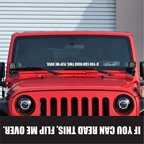 Flip Me Over Windshield Sticker Banner Vinyl Decal Off Road Car Truck SUV Bumper Sticker Fits Jeep Wrangler JK