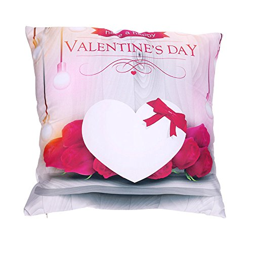 - Fulijie Throw Pillow Covers, Valentine's Day Print Lovely Romantic Throw Pillow Cases for Sofa Home Car Decor 18×18 Inch