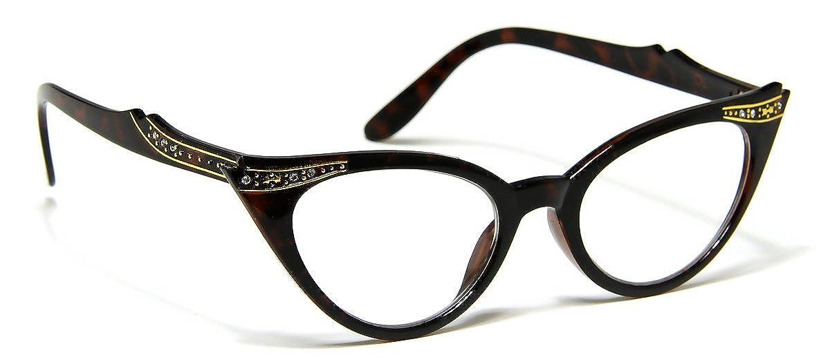 Amazon.com: Womens lente transparente) Retro brillantes ...