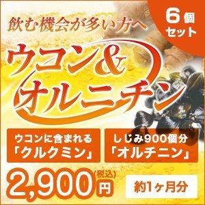 ウコン サプリ (日本製) 美容 健康 サプリメント [乾杯前の新習慣] クルクミン オルニチン [ ウコン&オルチニン 3袋セット ] 180粒入 (約3か月分) B01EWJPOJQ 3個セット  3個セット