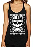 Wild Bobby Bullet Club | Wrestling Bone Soldier | Womens Ugly Christmas Premium Tri-Blend Racerback Tank Top, Vintage Black, Small