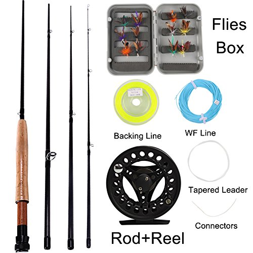 Sougayilang Saltwater Freshwater Fly Fishing Rod with Ree...